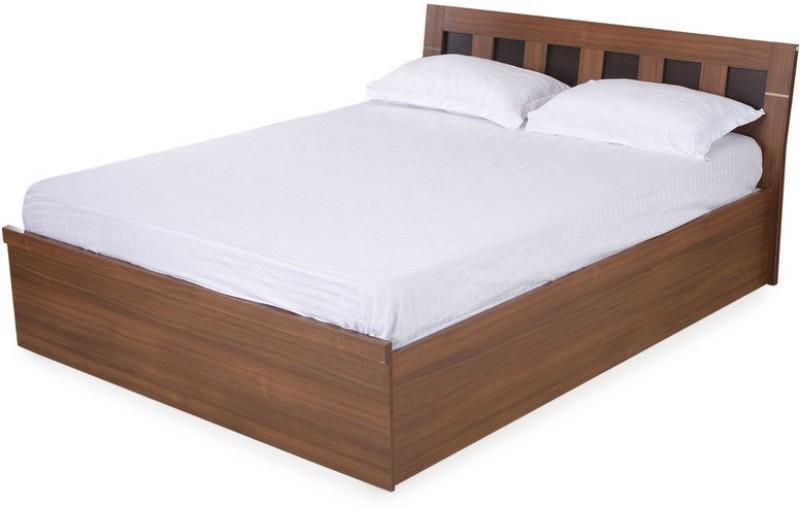 Nilkamal Reegan Engineered Wood King Bed With Storage(Finish Color - Walnut)