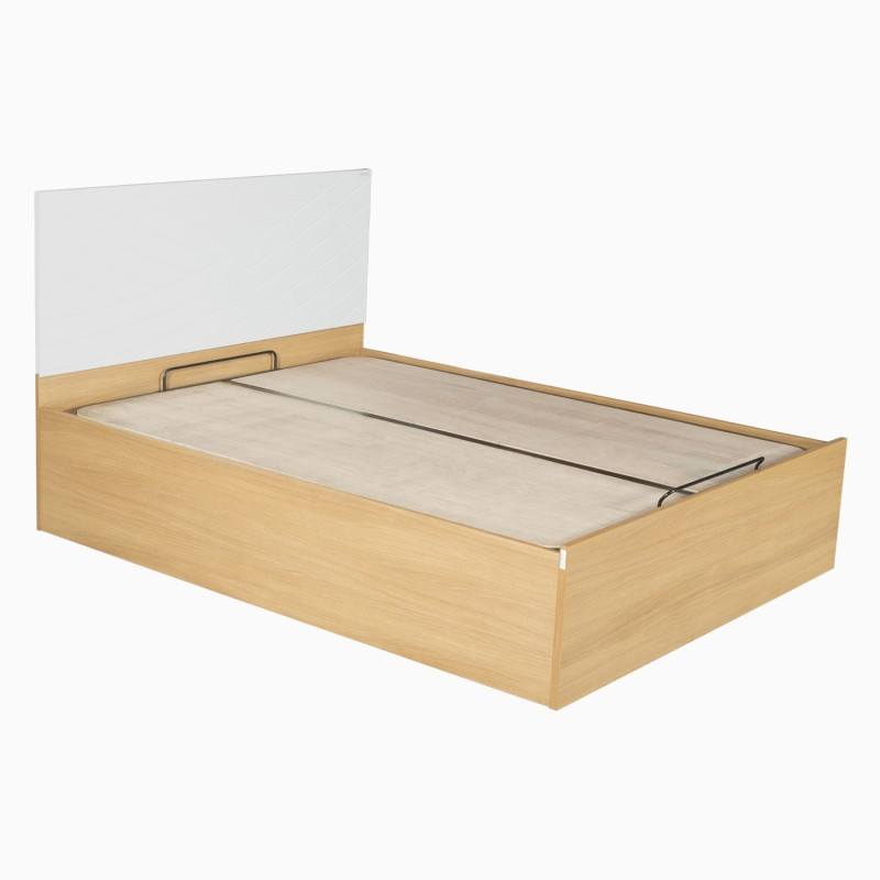 Godrej Interio Fiesta Engineered Wood King Bed With Storage(Finish Color - Jakarta teak::White)