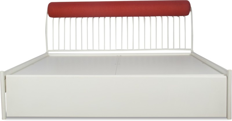 Godrej Interio Liva Piano Metal King Bed With Storage(Finish Color - White)