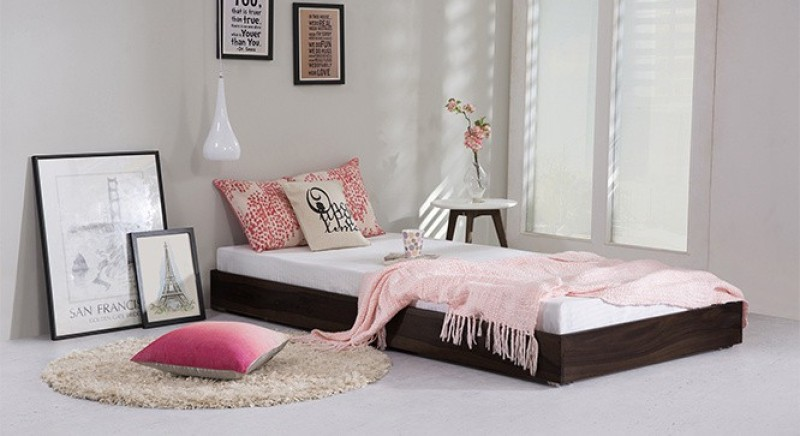 Urban Ladder Merritt Trundle Solid Wood Single Bed(Finish Color - Mahogany)
