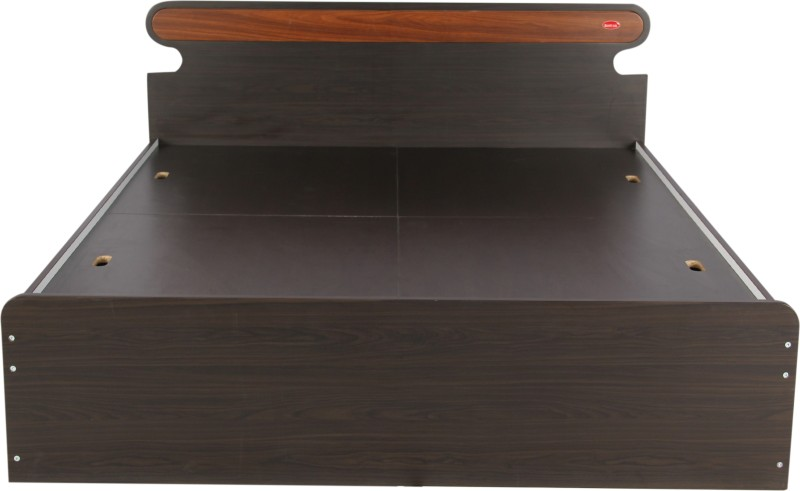 Kurlon CURVY Engineered Wood Queen Bed With Storage(Finish Color - WENGE)