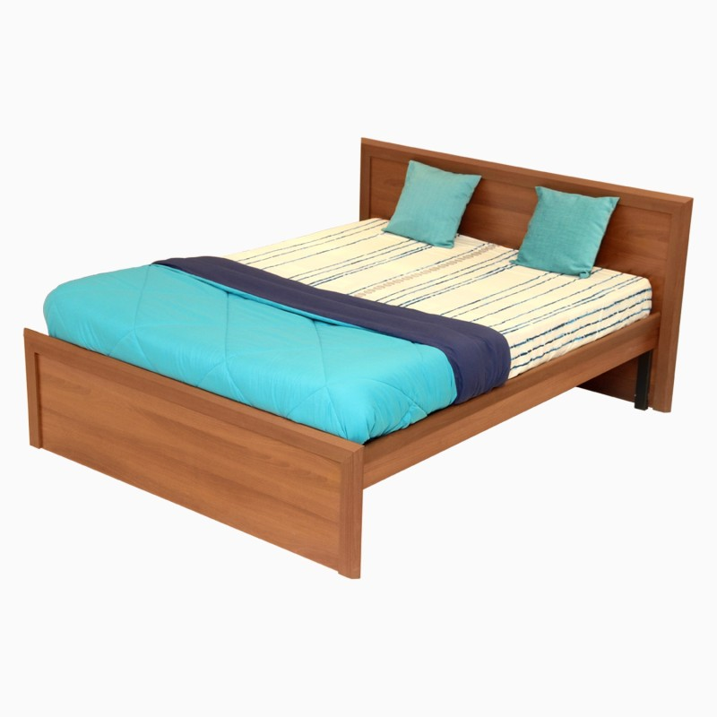 Godrej Interio Adriana Engineered Wood Queen Bed(Finish Color - Walnut)