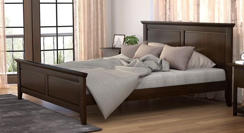 Urban Ladder Somerset Solid Wood King Bed(Finish Color - Dark Walnut)