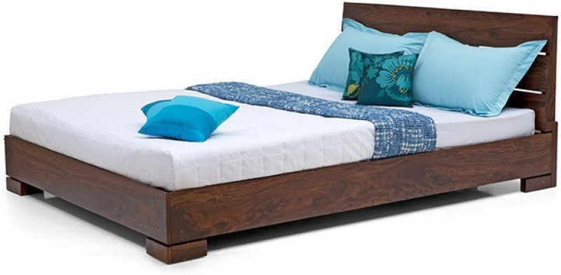 Urban Ladder Ohio Solid Wood Queen Bed(Finish Color - Teak)