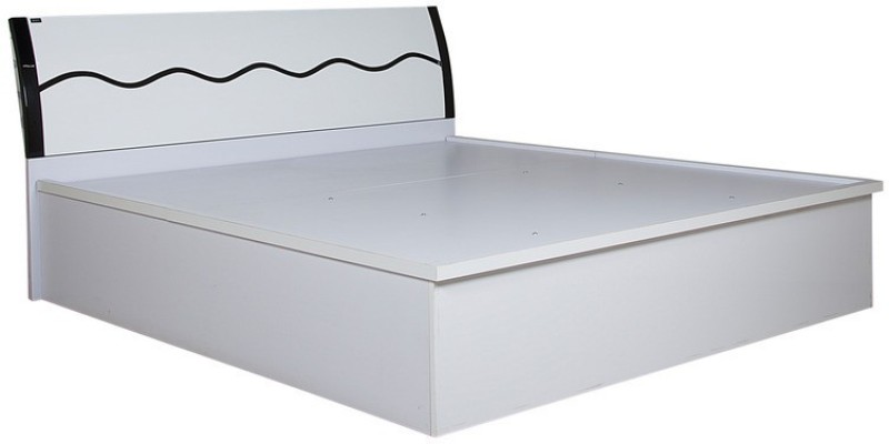 Parin Engineered Wood King Bed With Storage(Finish Color - Deco White)