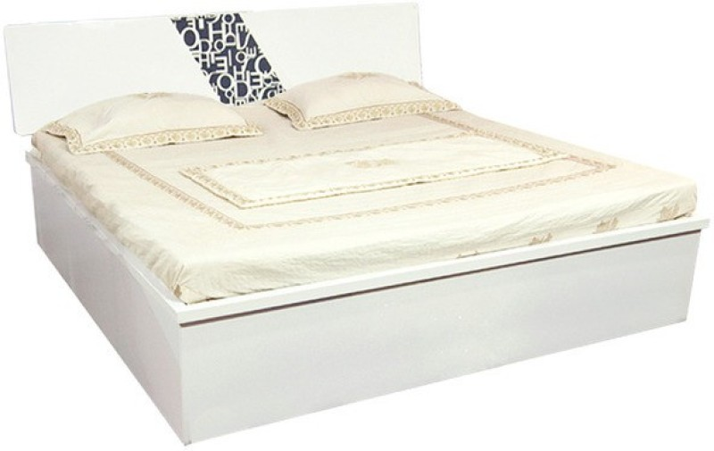 Parin Engineered Wood Queen Bed With Storage(Finish Color - Deco White)