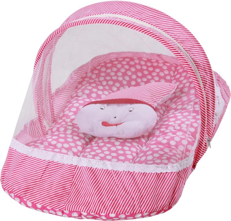BSB Trendz Cotton Bedding Set(Pink) BSB TRENDZ Baby Bedding Net Set