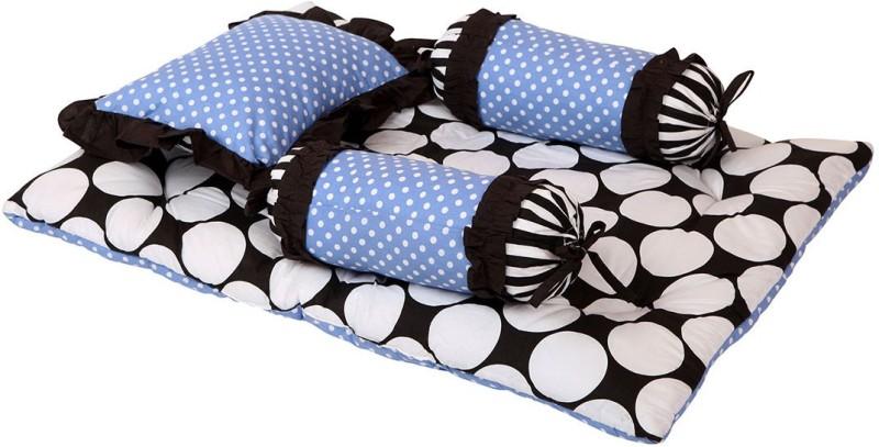 Bacati Velcro Cotton Bedding Set(Blue, Black)