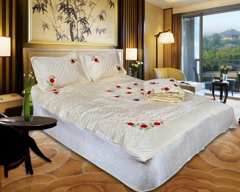 Urban Style Ethnic Raw Silk Bedding Set(Beige)