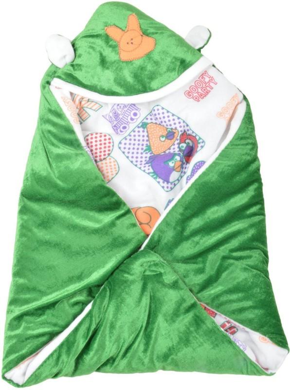 Trendz Home Furnishing Cartoon Crib Dohar Green(AC Dohar, 1 Bedding)