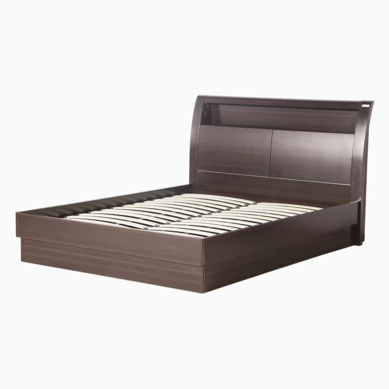 Godrej Interio Super Magna Engineered Wood King Bed With Storage(Finish Color - Indian Mahagony)