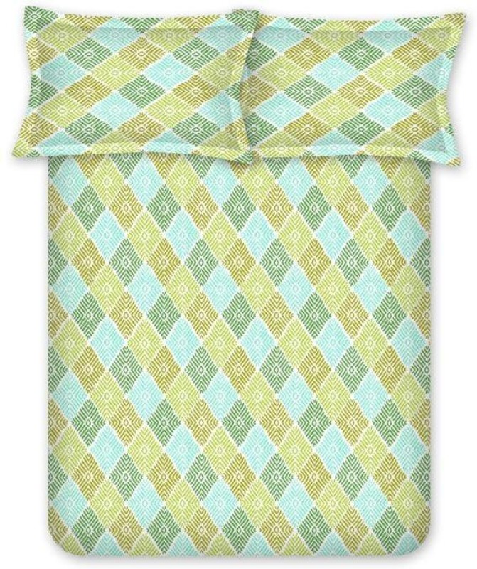 Bombay Dyeing 120 TC Cotton Double Printed Bedsheet(Green)