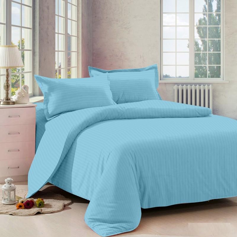 Dreamscape 220 TC Cotton Double Striped Bedsheet(Bedsheet, Two Pillow Covers, Multicolor)