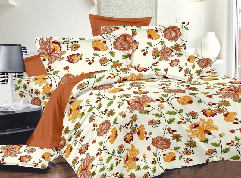 Dreamscape 220 TC Cotton Double Floral Bedsheet(Pack of 1, Multicolor)