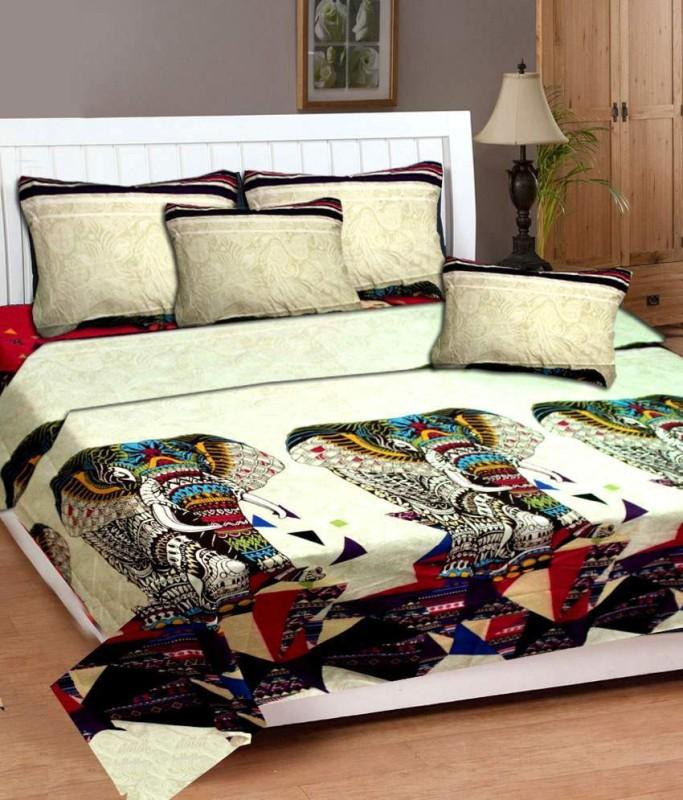 Little Joy Polycotton Double King Floral Bedsheet(Pack of 1, Multicolor)