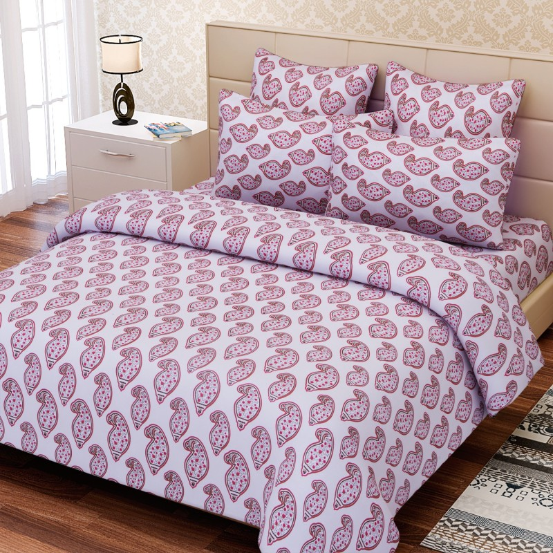 SEJ by Nisha Gupta 144 TC Cotton Double Abstract Bedsheet(Pack of 1, Multicolor)