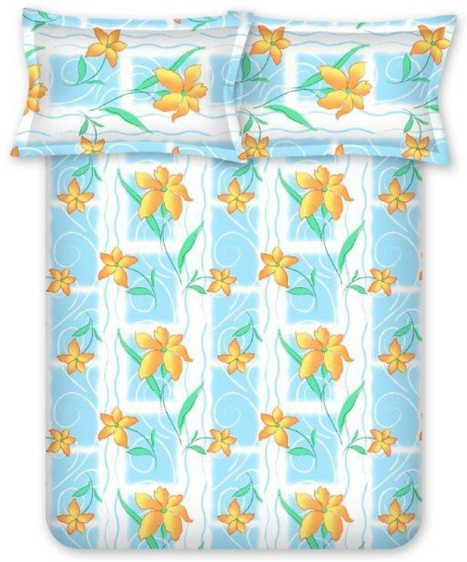 Bombay Dyeing Cotton Double Printed Bedsheet(Pack of 1, Green)