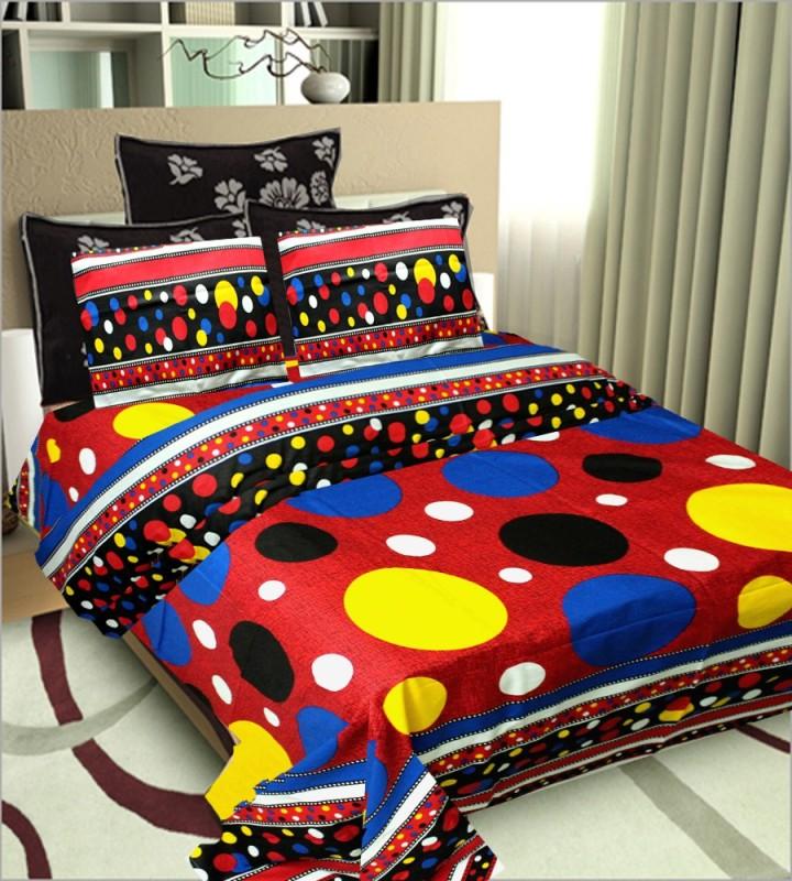 Little Joy Cotton Double King Floral Bedsheet(Pack of 1, Multicolor)