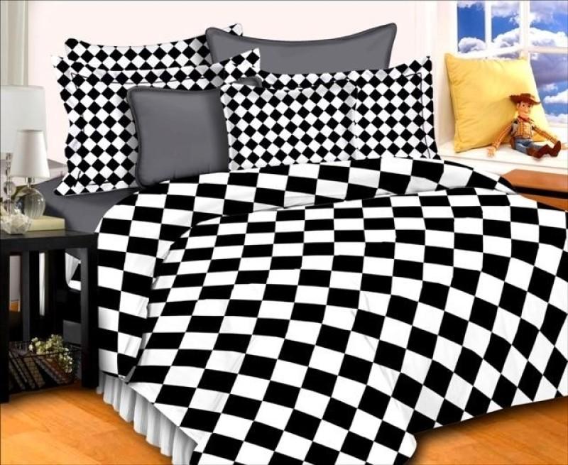 Dreamscape 220 TC Cotton Double Geometric Bedsheet(Pack of 1, Multicolor)