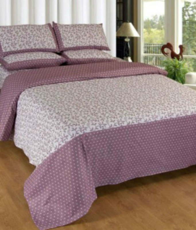 Little Joy Cotton Double Printed Bedsheet(Pack of 1, Multicolor)