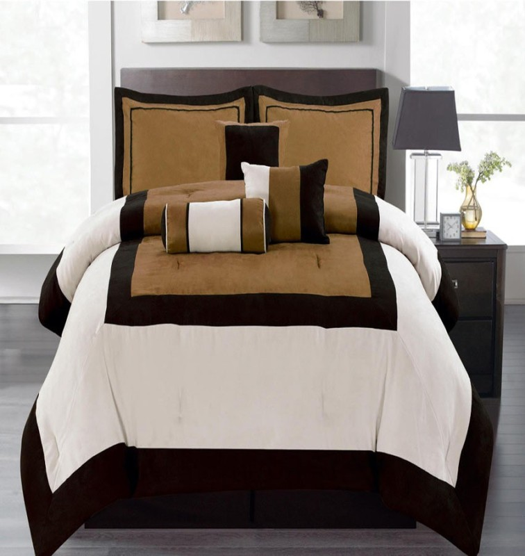 Bella King Cotton Duvet Cover(Brown)