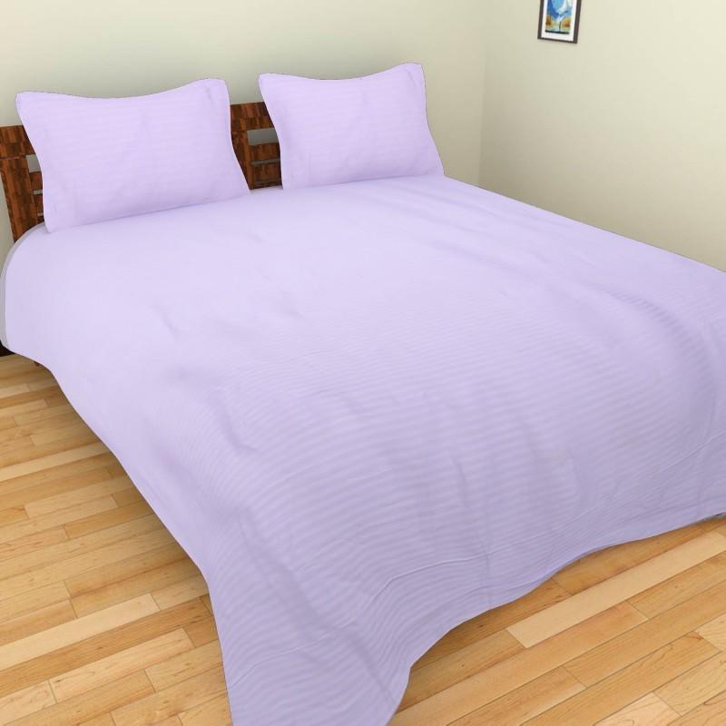 BSB Trendz Cotton Double Plain Bedsheet(Pack of 1, Light Blue)