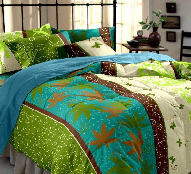Dreamscape 144 TC Cotton Double Floral Bedsheet(Pack of 1, Multicolor)