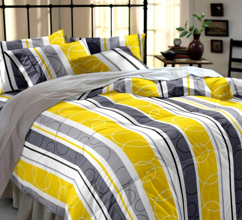 Dreamscape 144 TC Cotton Double Checkered Bedsheet(1 Bedsheet, 2 Pillow Covers, Multicolor)