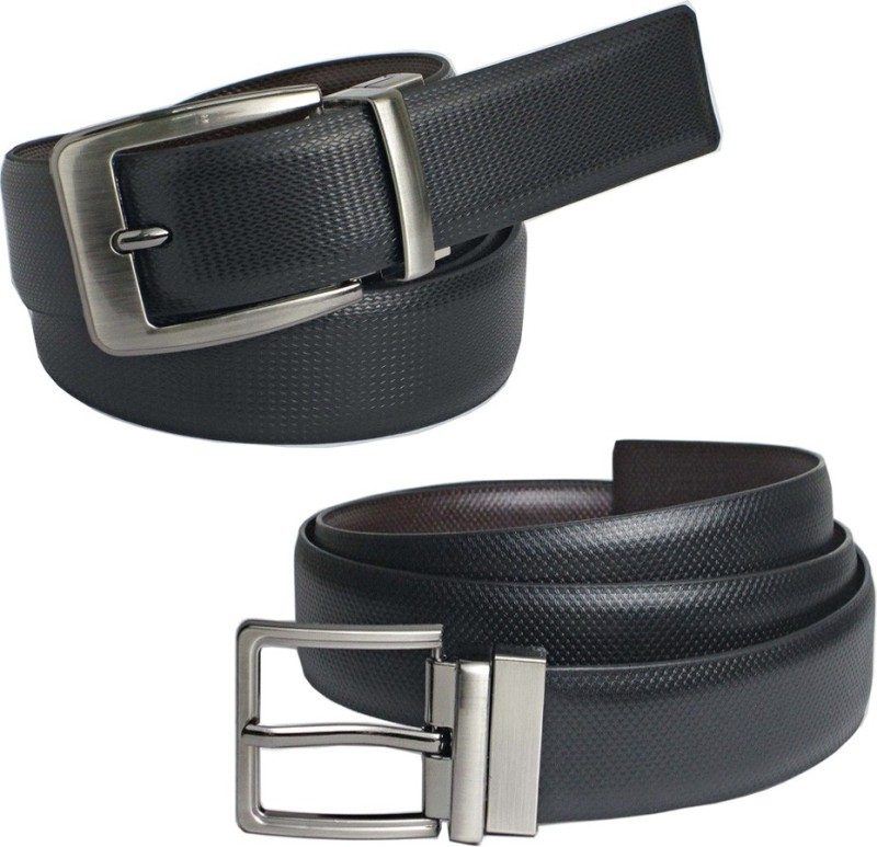 saugat-traders-boys-casual-evening-formal-party-black-brown-artificial-leather-reversible-belt
