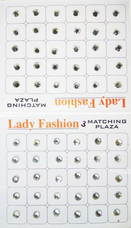 Lady Fashion Kundan Matching Plaza 0111201609 Forehead White Bindis(Stone)
