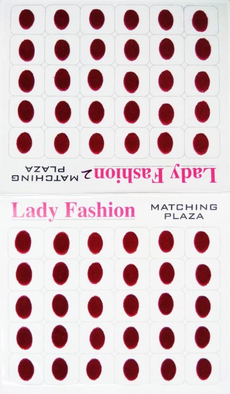Lady Fashion Matching Plaza 1111201618 Forehead Maroon Bindis(Stick on)