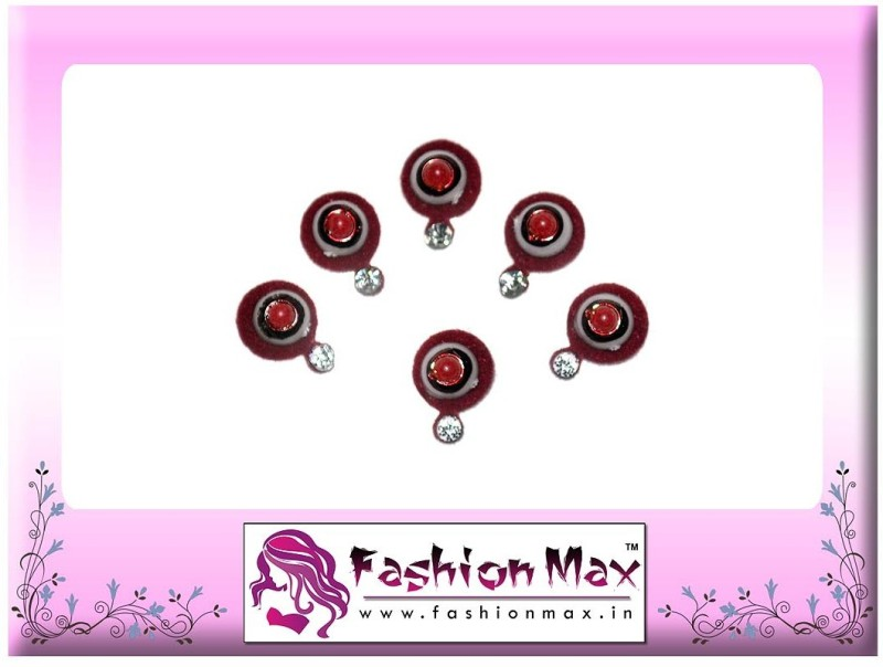 Fashion Max Pleasant Festive Collection Forehead Red Bindis(Fancy Design)