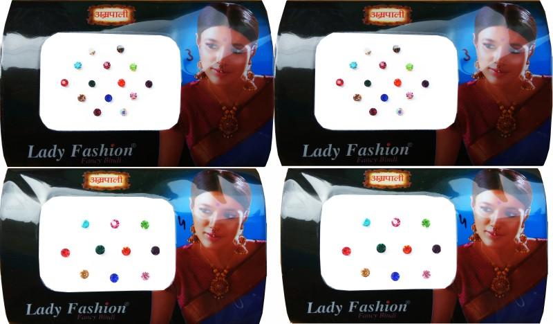 Lady Fashion Amarpali Crystals 2911201614 Forehead Multicolor Bindis(Kundan)