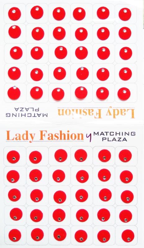 Lady Fashion Matching Plaza 1111201626 Forehead Red Bindis(Stick on)