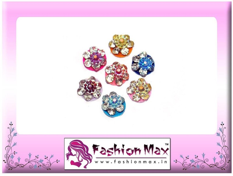 Fashion Max Premium Colorful Crystal Forehead Multicolor Bindis(Fancy Design)