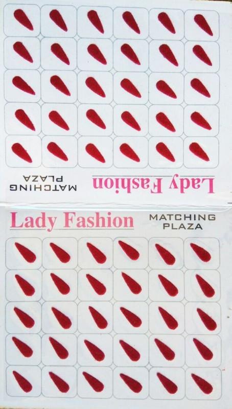 Lady Fashion LBIN0103 Forehead Maroon Bindis(Stick On)