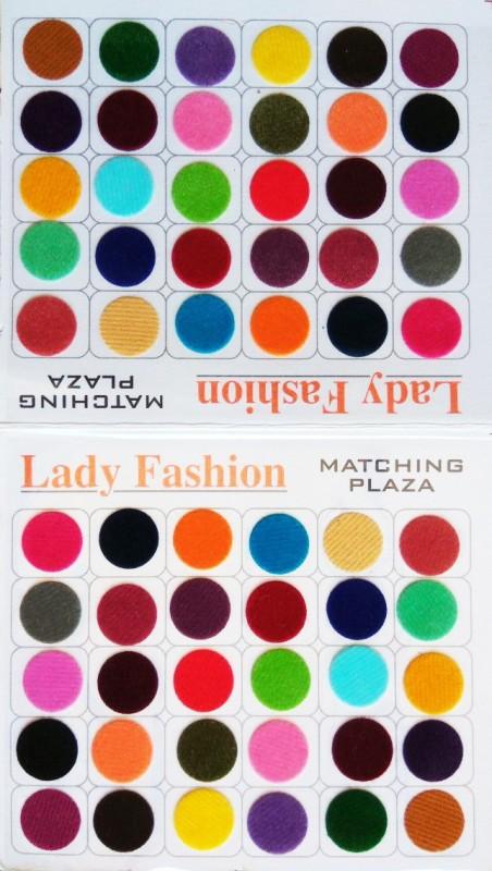 Lady Fashion Matching Plaza 2510201607 Forehead Multicolor Bindis(Plain)