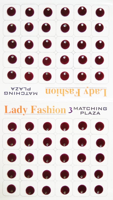 Lady Fashion Matching Plaza 1111201609 Forehead Maroon Bindis(Stick on)