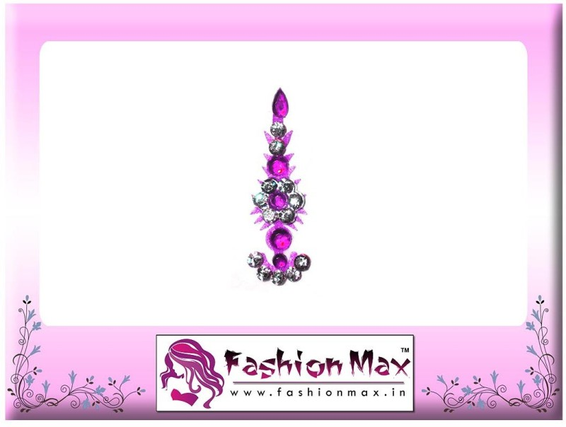 Fashion Max Highly Decorative Fansy Long Tikka Bindi Forehead Purple Bindis(Fancy Design)