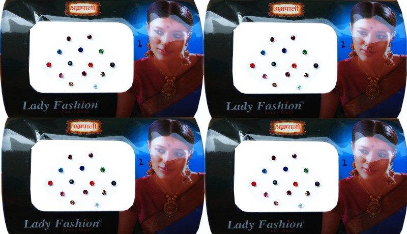 Lady Fashion Amarpali Crystals 2911201602 Forehead Multicolor Bindis(Kundan)