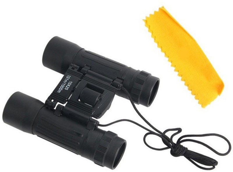 Zingalalaa 10 x 25X High Powered Compact Binocular Outdoor,Camping,Tourism, Binoculars(21 mm , Black)