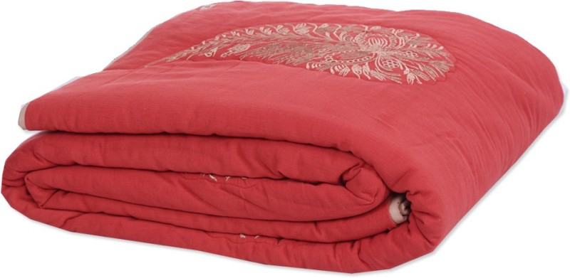 Reme Embroidered Single Comforter(Microfiber, Multicolor)