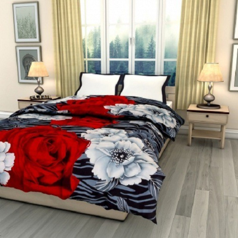 Blanket Zone Floral Single Quilts & Comforters Multicolor(1 Comforter)
