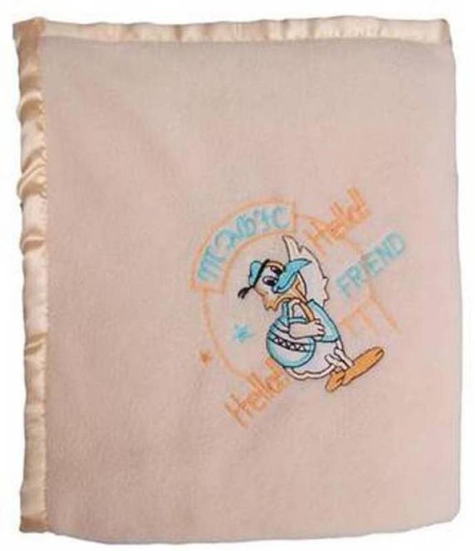 Gargshope Cartoon Crib Blanket Peach(Fleece Blanket, Blanket)