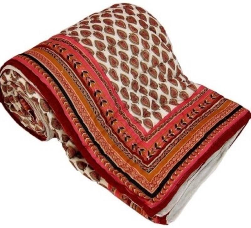 Ruchi World Floral Single Comforter(Microfiber, Multicolor)