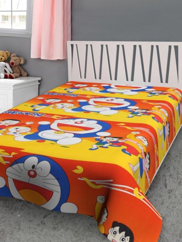 Furry Cartoon Single Dohar Multicolor(Micro Quilt, Blanket)