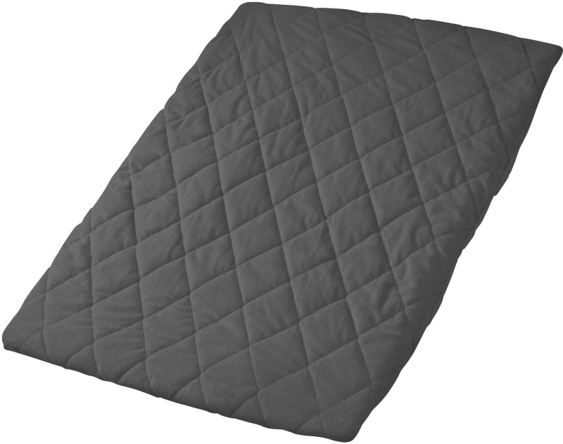 Playette Plain Crib Quilt, Comforter Black(1 Quilted sheet)