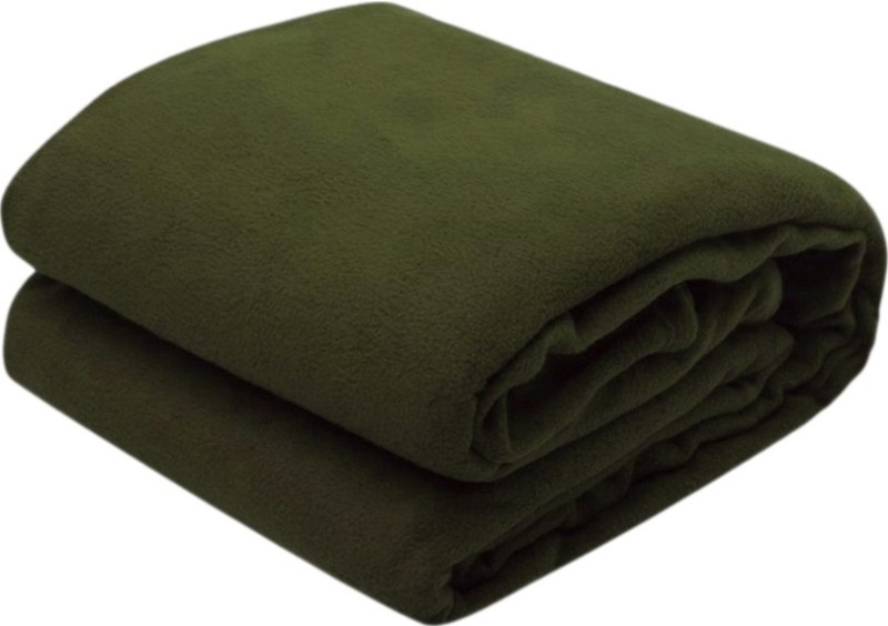 RS Quality Plain Single Quilts & Comforters Green(1 Plain Blanket)
