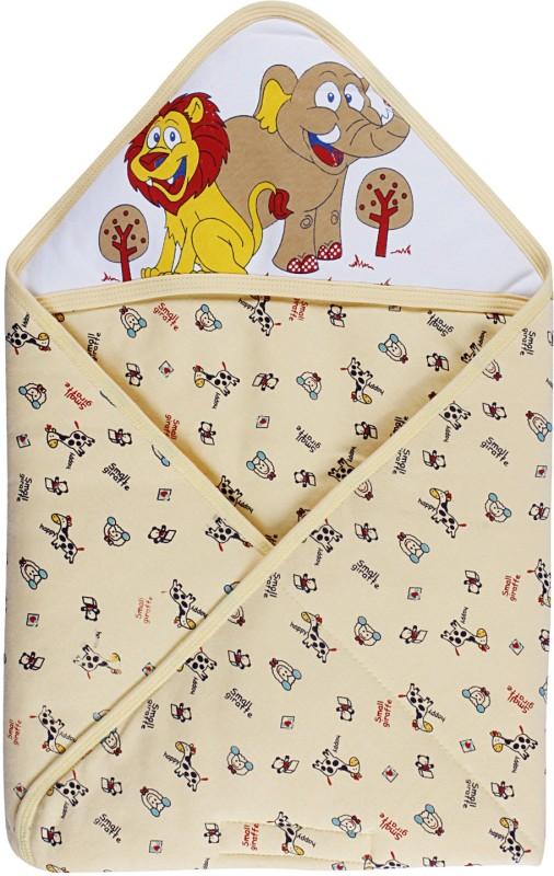 Littly Printed Single Hooded Baby Blanket Multicolor