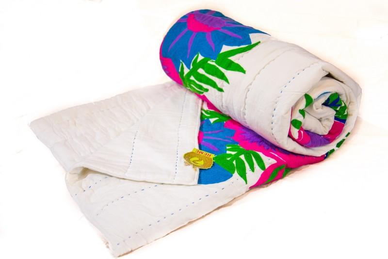 Reme Embroidered Queen Comforter(Microfiber, Beige)